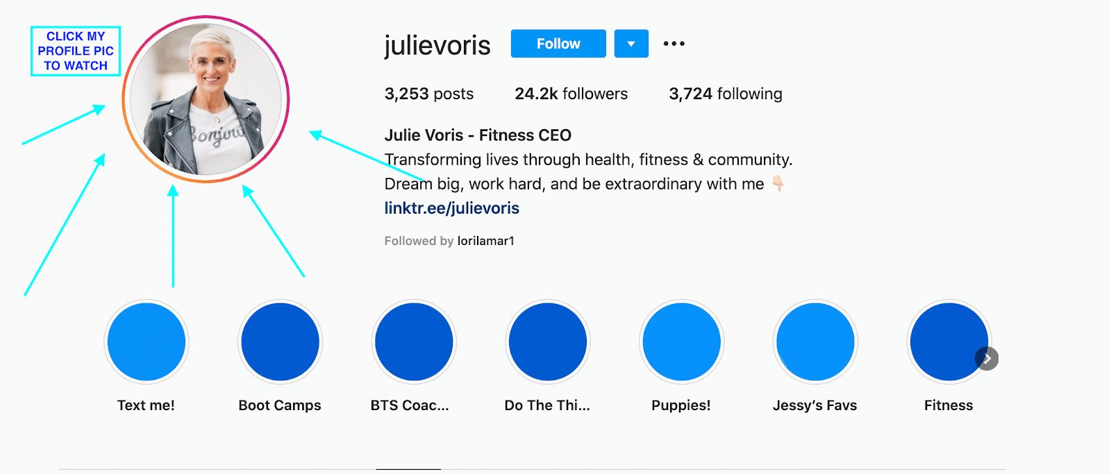 julie voris instagram live